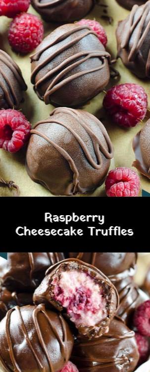 Raspberry Cheesecake Truffles #christmas #dessert