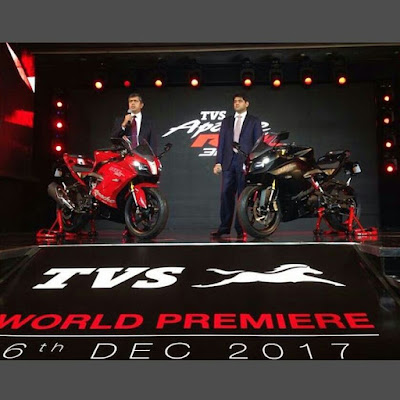 Launching TVS Apache RR 310S