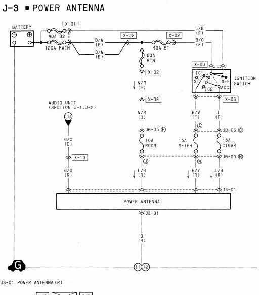 1994 Mazda RX7 Power Antenna Wiring Diagrams | All about