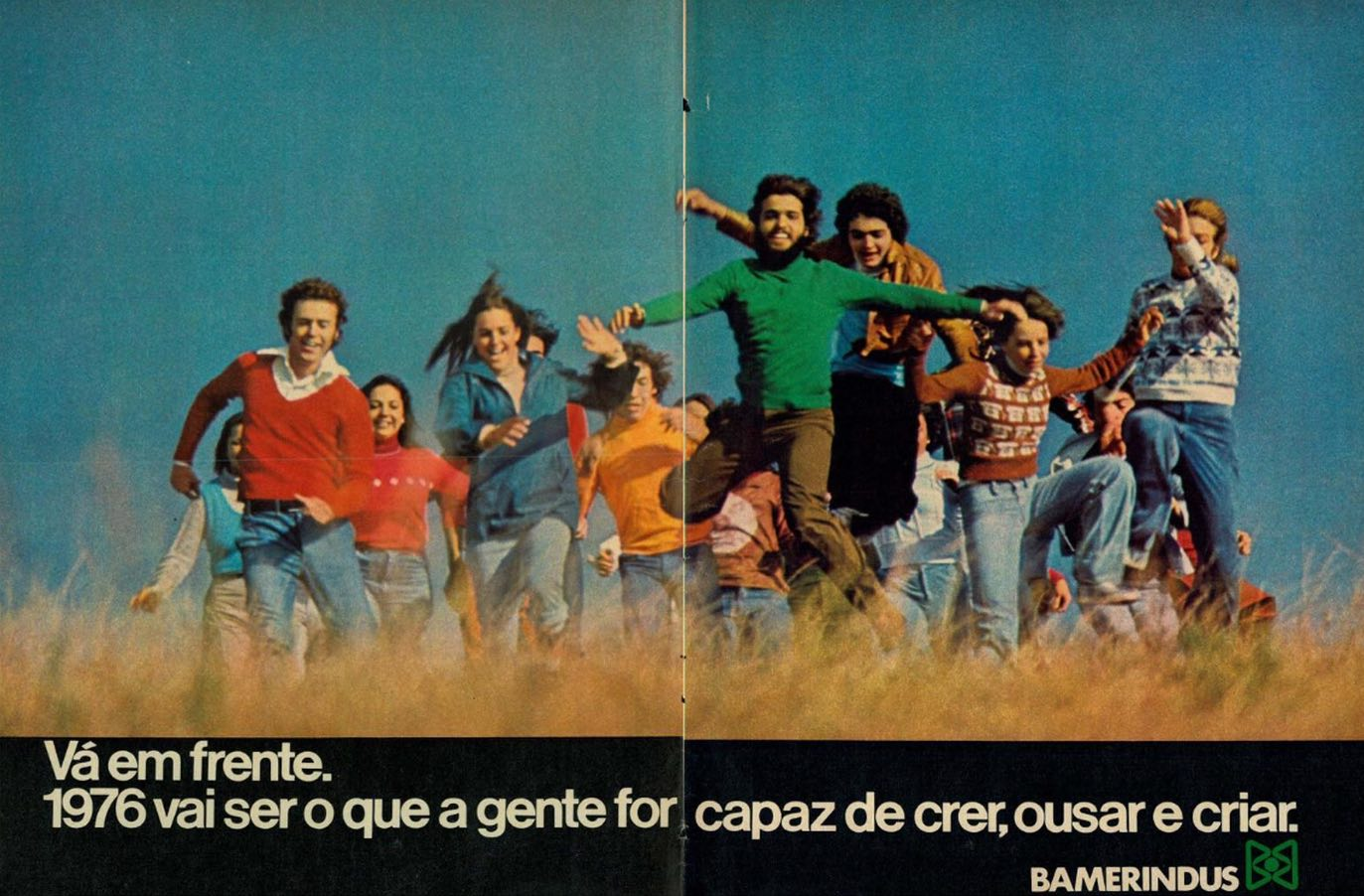 Anúncio de fim de ano do Banco Bamerindus veiculado em 1975