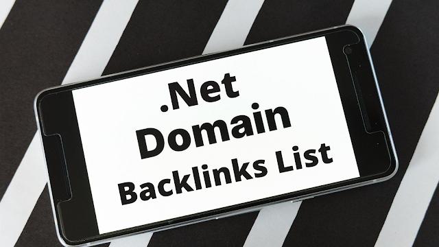 .net domain backlink list