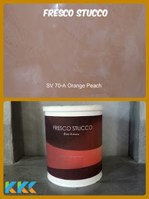 Fresco Stucco Paint SV 70-A Orange Peach Kemasan 1Kg