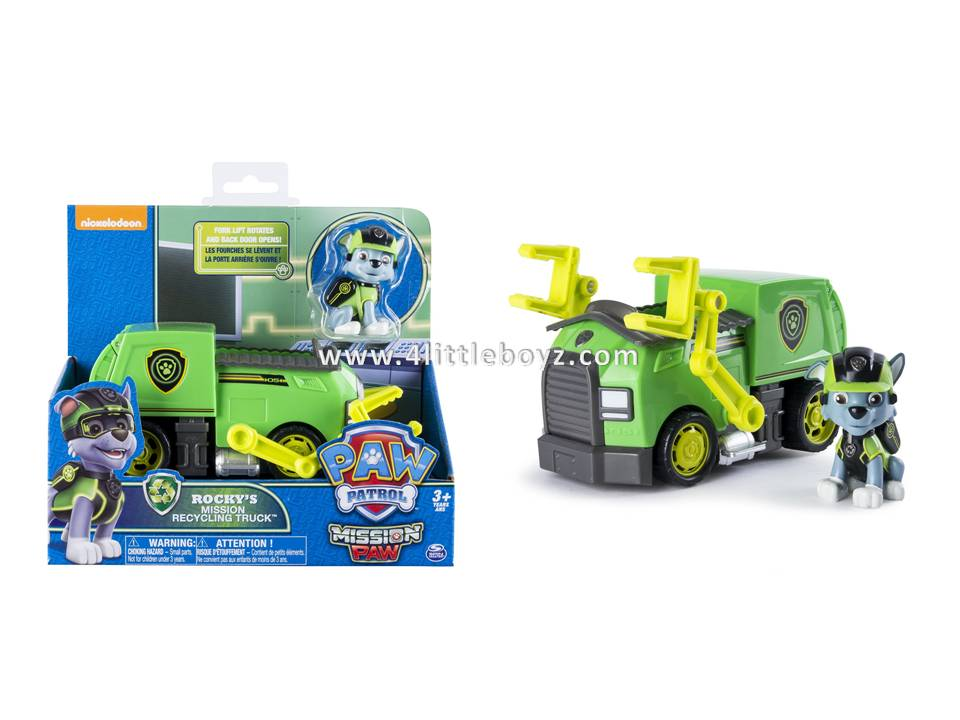 paw patrol mission paw rocky s mission recycling truck