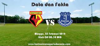 Data dan Fakta Fantasy Premier League GW 28 Watford vs Everton Fantasi Manager Indonesia