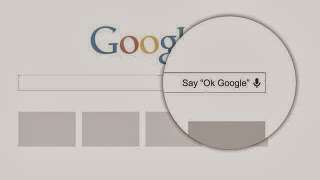 "hands-free, no typing. Simply say ""Ok Google"" and then ask your question."