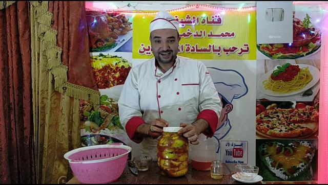 طريقة عمل تخليل ليمون الارنج او اضاليا الشيف محمد الدخميسي