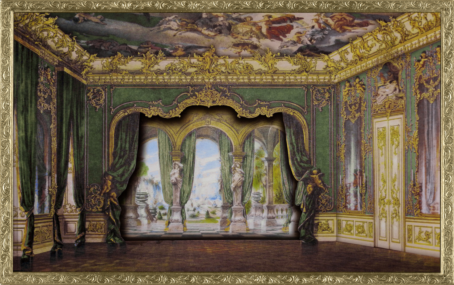 Room Background: My Fanciful Muse: French Parlor Scene With
