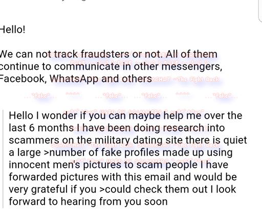 Dating site criminals