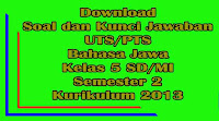 download soal dan kunci jawaban uts bahasa jawa kelas 5 sd semester 2 kurikulum 2013