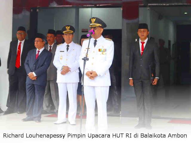 Richard Louhenapessy Pimpin Upacara HUT RI di Balaikota Ambon