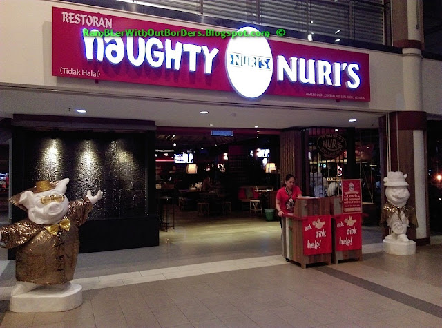 Entrance, Naughty Nuri's Restaurant, Life Centre, KL, Malaysia