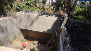 Sektor 1 ; Dansub Tarumajaya Cek Progres Pembangunan IPAL Komunal di Kampung Goha Lebak