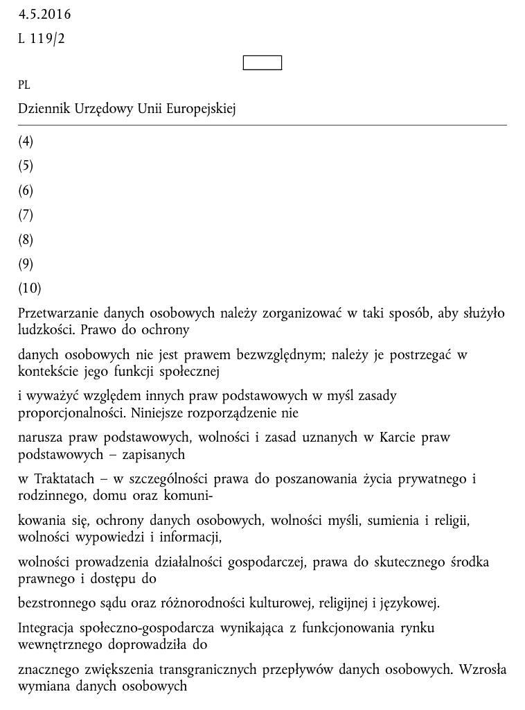 PocketBook Touch Lux 4 – tekst RODO po użyciu trybu reflow