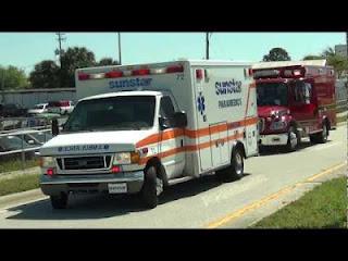 Ambulance in Florida, USA.