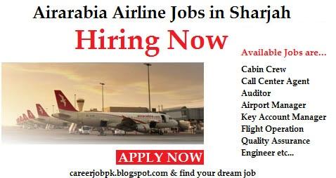 Jobs in Air Arabia Airline Sharjah