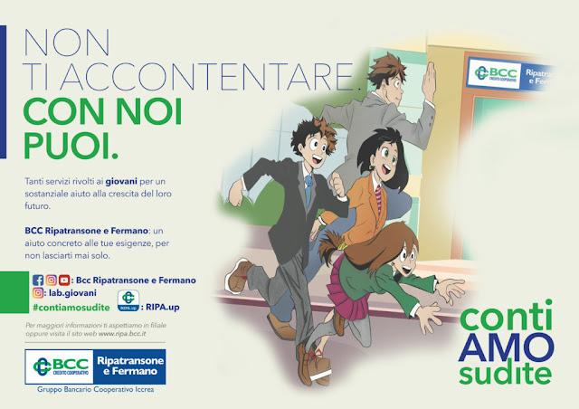 Imagen de la publicidad del banco italiano