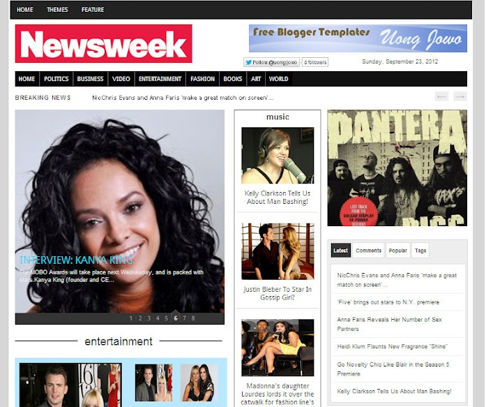 Newsweek Blogger Template