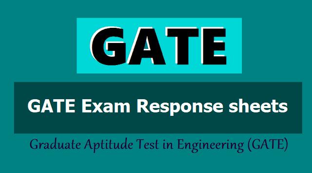GATE 2019 Exam Response sheets
