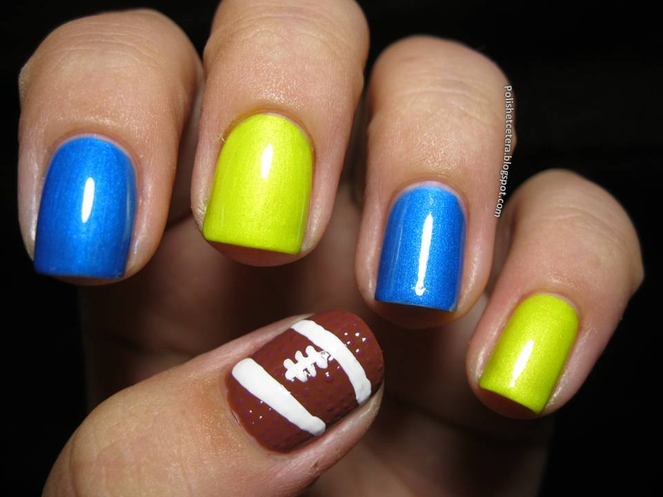 College Football Nail Art Polish Etc
