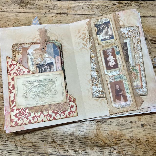 Vintage Days Journal: Belly Band & Corner Pocket