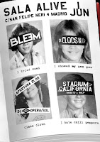 Concierto de The Clods Band, Stadium California y The bleem en Sala Alive
