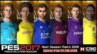 PES 2017 Next Season Patch 2019 Option File 07-08-2018