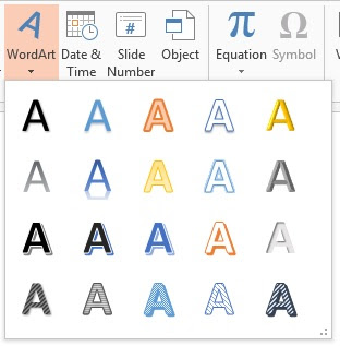 PowerPoint Wordart