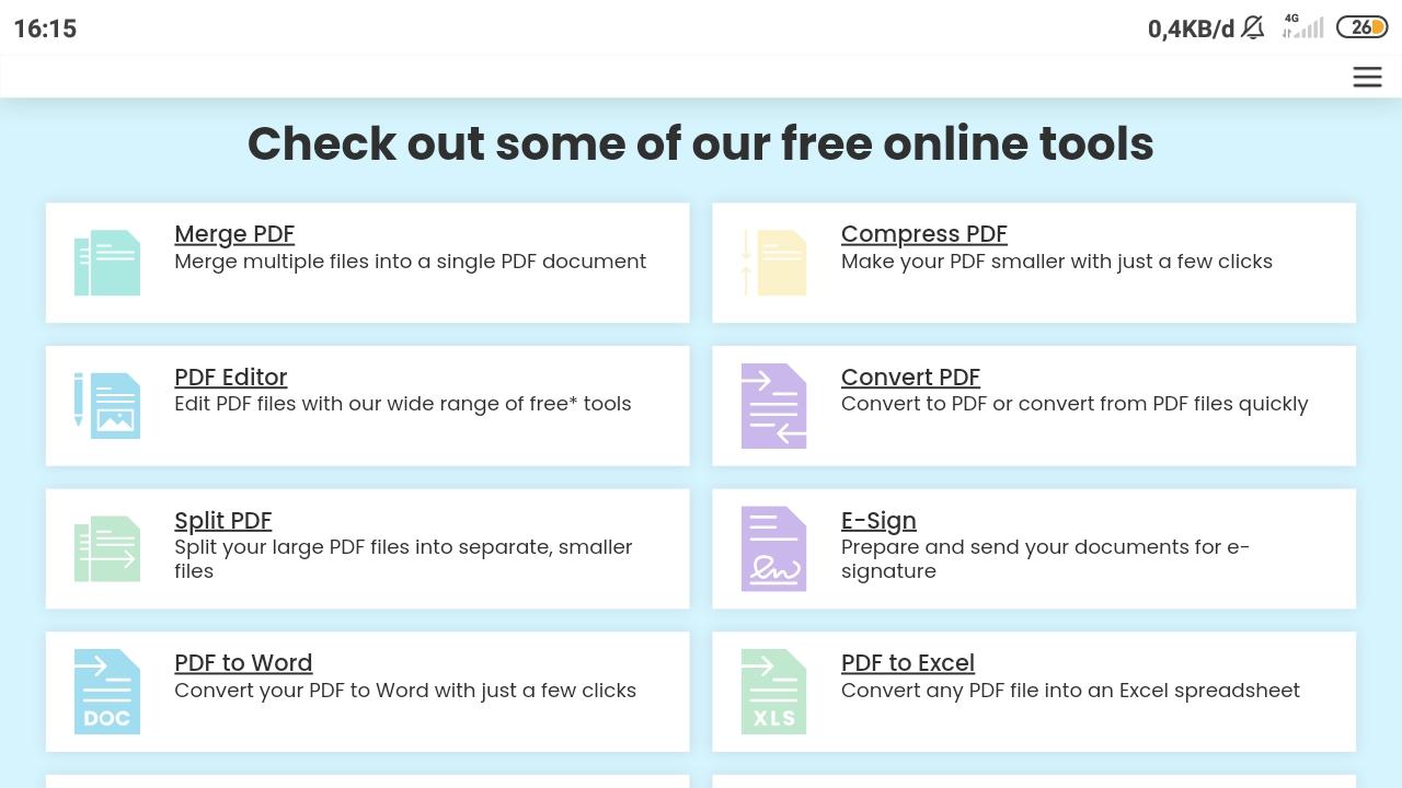Pilih Menu Merge PDF