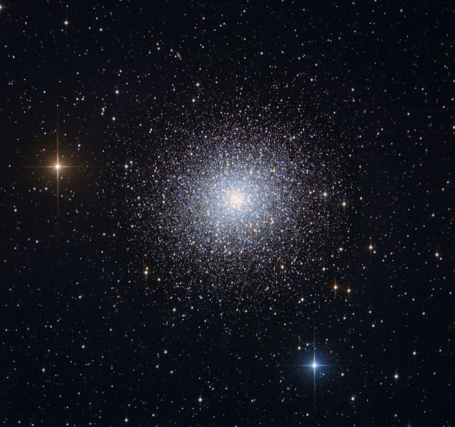 "M13 - The Great Globular Cluster in Hercules imaged on Insight Observatory's 16"" f/3.7 astrograph reflector (ATEO-1). Image data acquired by Muir Evenden and processed by Utkarsh Mishra."
