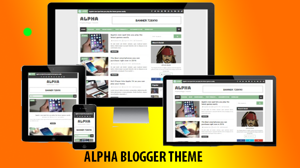 Alpha Free Blogger Theme - Responsive Blogger Template