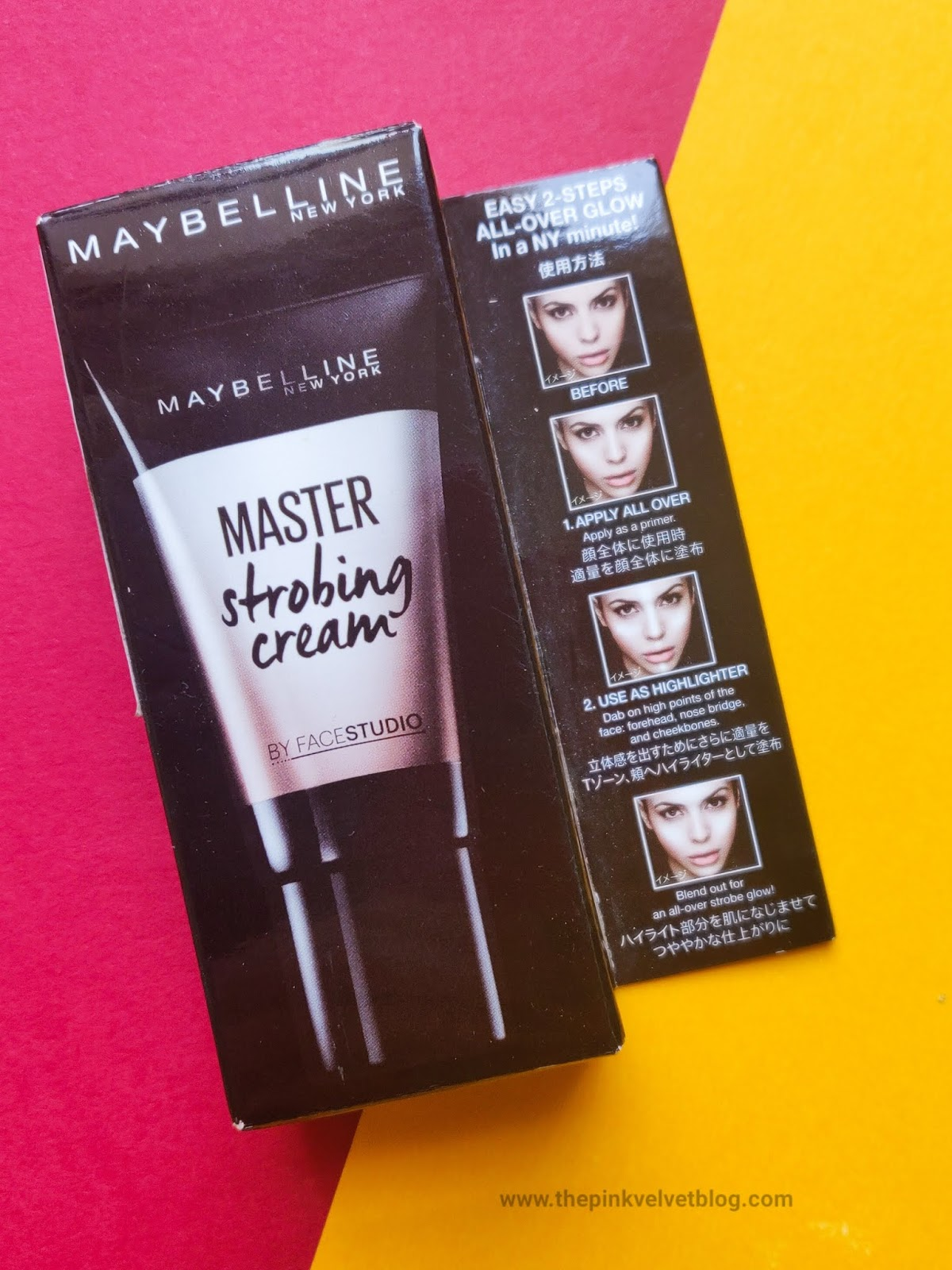 "Maybelline Master Strobing Cream ""Pink"" - Review"