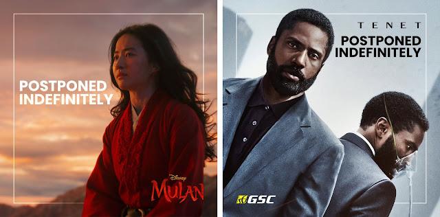 Aduh! Tenet, Mulan, Top Gun Maverick Antara Filem Yang Ditangguhkan Lagi Tayangan