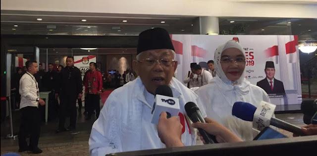 Maruf Amin Akui Pembisik Jokowi Ada di Mana-Mana