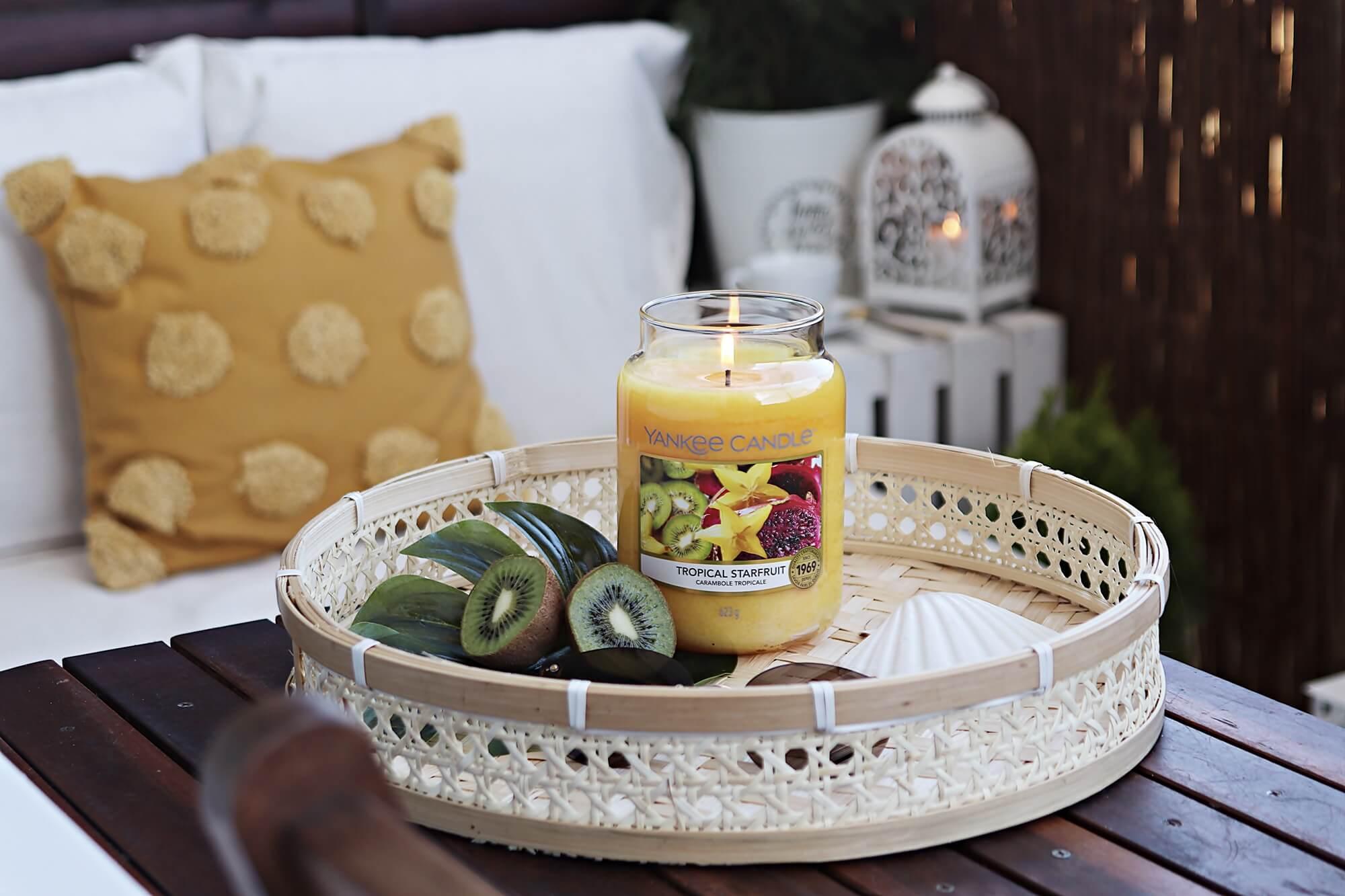 yankee candle tropical starfruit duża świeca dekoracja stołu