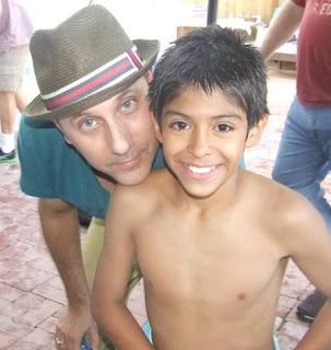 Picture of Willie Garson with his son Nathen Garson when Nathen was child