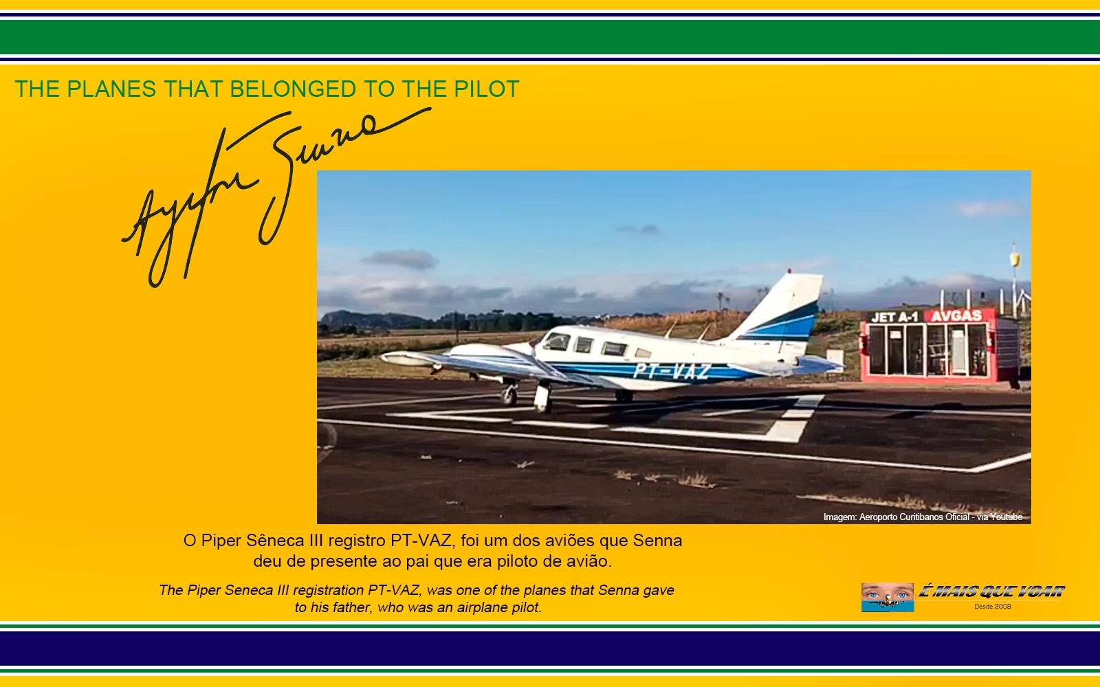 PT-VAZ - Senena III - Os helicópteros e os aviões que foram do piloto Ayrton Senna? | É MAIS QUE VOAR