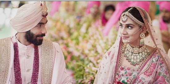 Indian fast bowler Jaspreet Burma marries TV anchor  Sanjana Ganesan