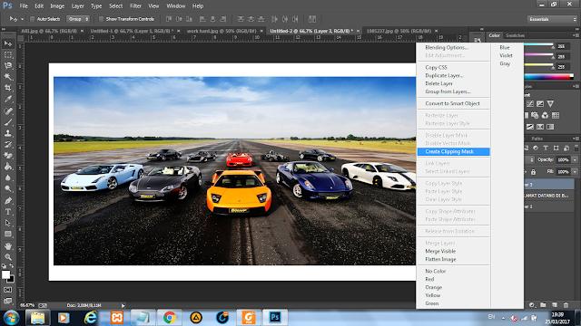 Cara menambahkan Gambar di dalam text pada Photoshop