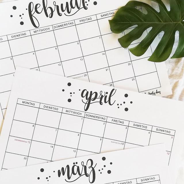 Monatskalender - 2020 - whatalovelday - Kalender - Free Printable - Familie - Planung - Schulanfang