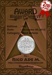 Awards Best Article dari Blogger Energy