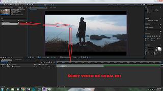 Langkah akhir memasukkan vidio adobe after effect