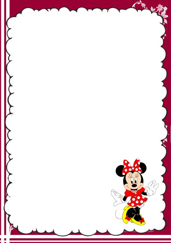 Hermosa caratula para cuaderno de Minnie