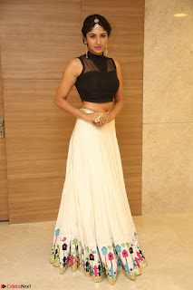 Roshni Prakash in a Sleeveless Crop Top and Long Cream Ethnic Skirt 103.JPG