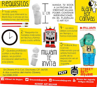 convocatoria del MUJAM para intervenir un art toy