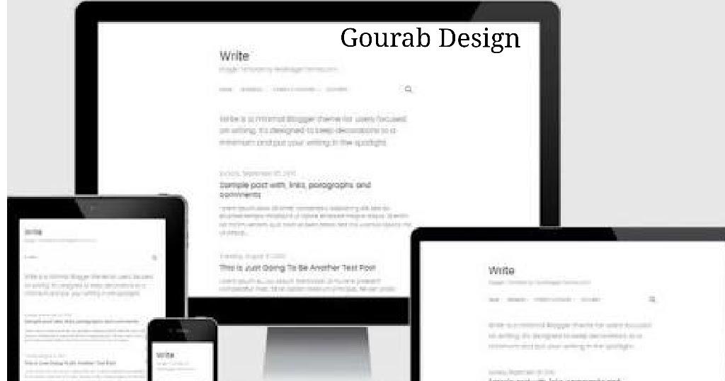 Write - Free Blogger Templates For Writers ~ Gourab Design