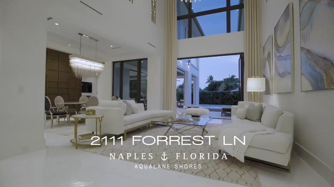 34 Interior Design Photos vs. 2111 Forrest Ln, Naples, FL Luxury Home Tour