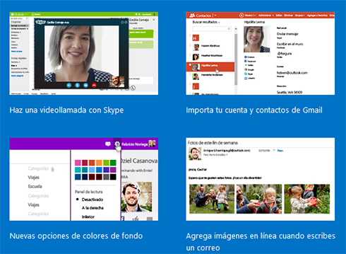 cambios en outlook hotmail