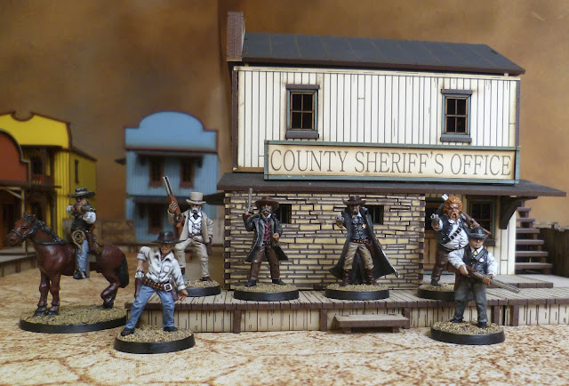 Black Scorpion Tombstone Old West miniatures. 4Ground Old West buildings for Dead Man's Hand.