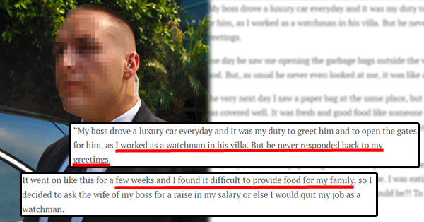 man angry at his boss realize how sweet his boss was