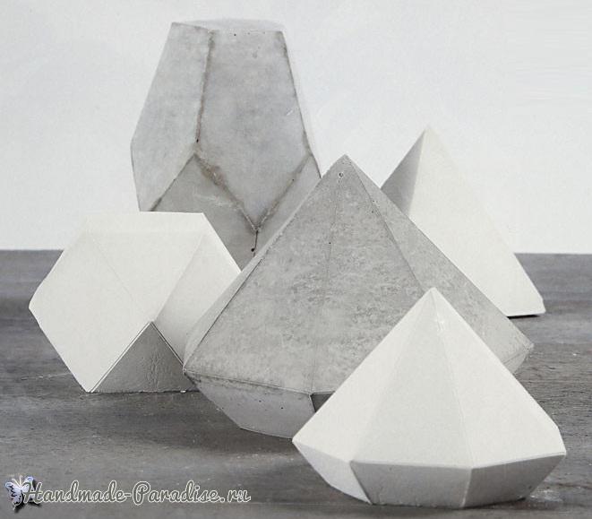 Подсвечник из бетона своими руками (7)